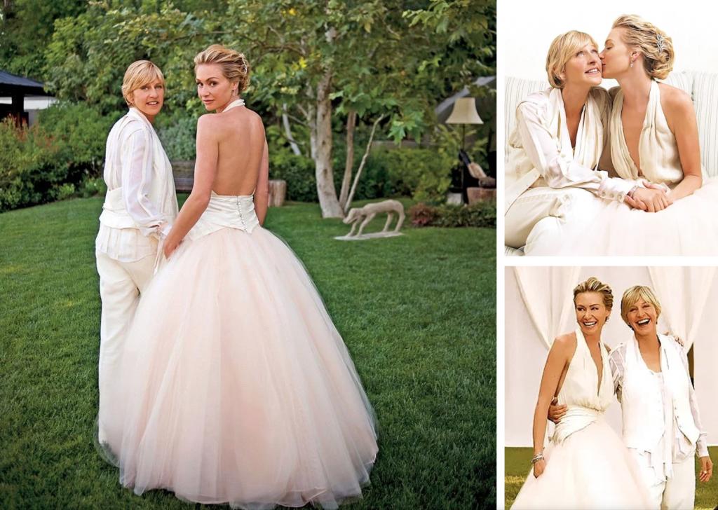 Ikoniske bruder Ellen DeGeneres & Portia de Rossi