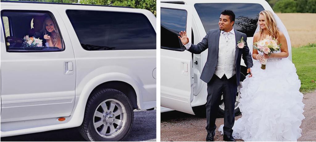 brudepar limousine bryllupstransportbrudgom skål bryllupsplanlegging bryllupsblogg brud bryllupsplanlegging