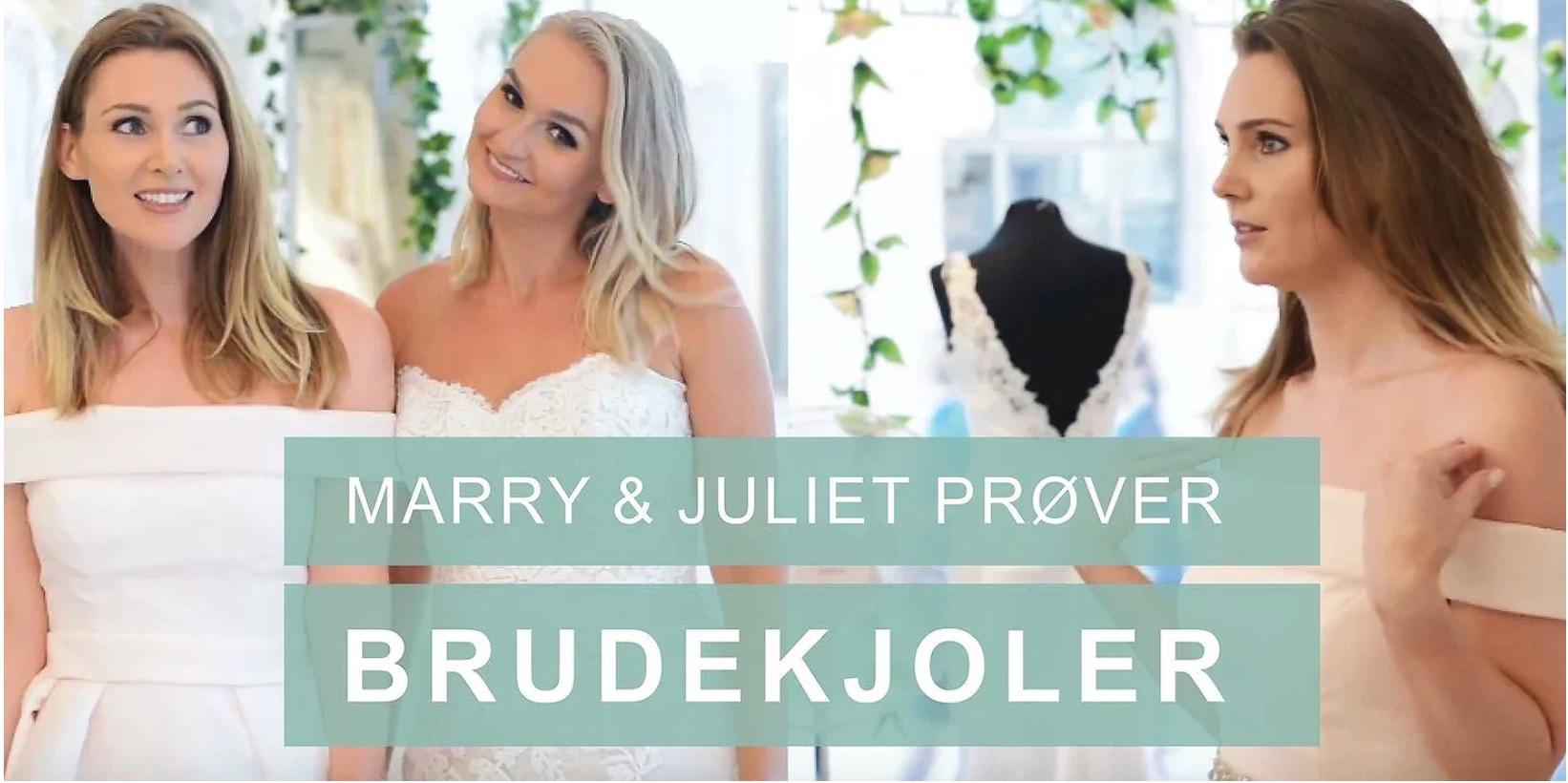 Brudekjole Brudesalong prøvetime marry & juliet